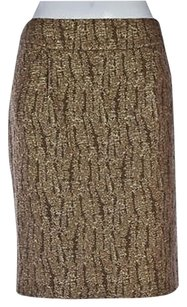 J.Crew J Crew Womens Brown Pencil Skirt Multi-Color