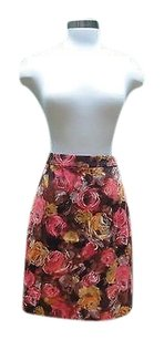 J.Crew Designer Fall Red Gold Brown Skirt Multi-Color