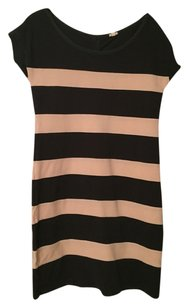 J.Crew short dress Dark grey and ivory Striped on Tradesy