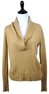 J.Crew Tan Camel Shawl Neck Pullover Sweater