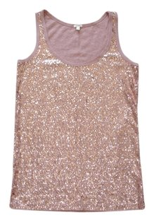 J.Crew Sequined Sequin Embellished Pink Sparkle Sparkly Top mauve