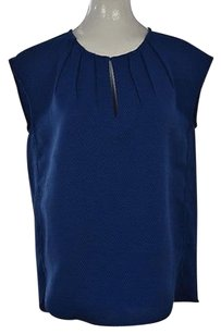 J.Crew J Crew Womens Metallic Top Blue