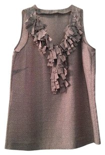 J.Crew Camisole Top COPPER DUST RUFFLE SILK BLOUSE TOP CAMI