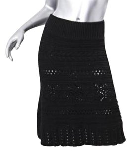 Jean-Paul Gaultier Jean Paul Wool Skirt Black