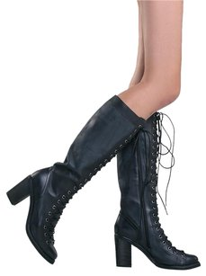 Jeffrey Campbell 150220 Blocked Black Boots