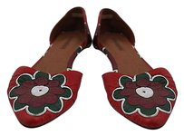 Jeffrey Campbell Womens Red Red, White, Green, Burgundy, Brown Flats