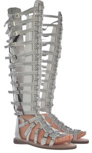 Jeffrey Campbell Womens Gladiator Flat Leather White Sandals