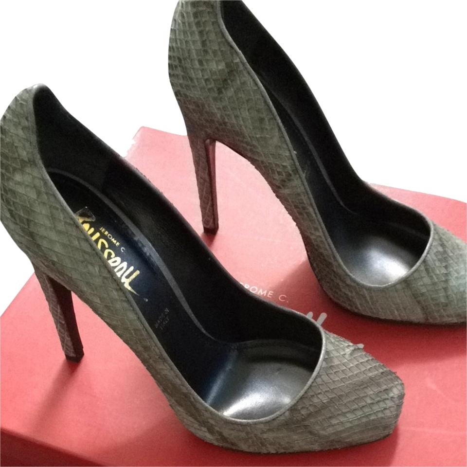 Jerome C. Rousseau Grey Grey Rousseau Aizza Sandals Size US 8 Regular (M, B) 00e5e8