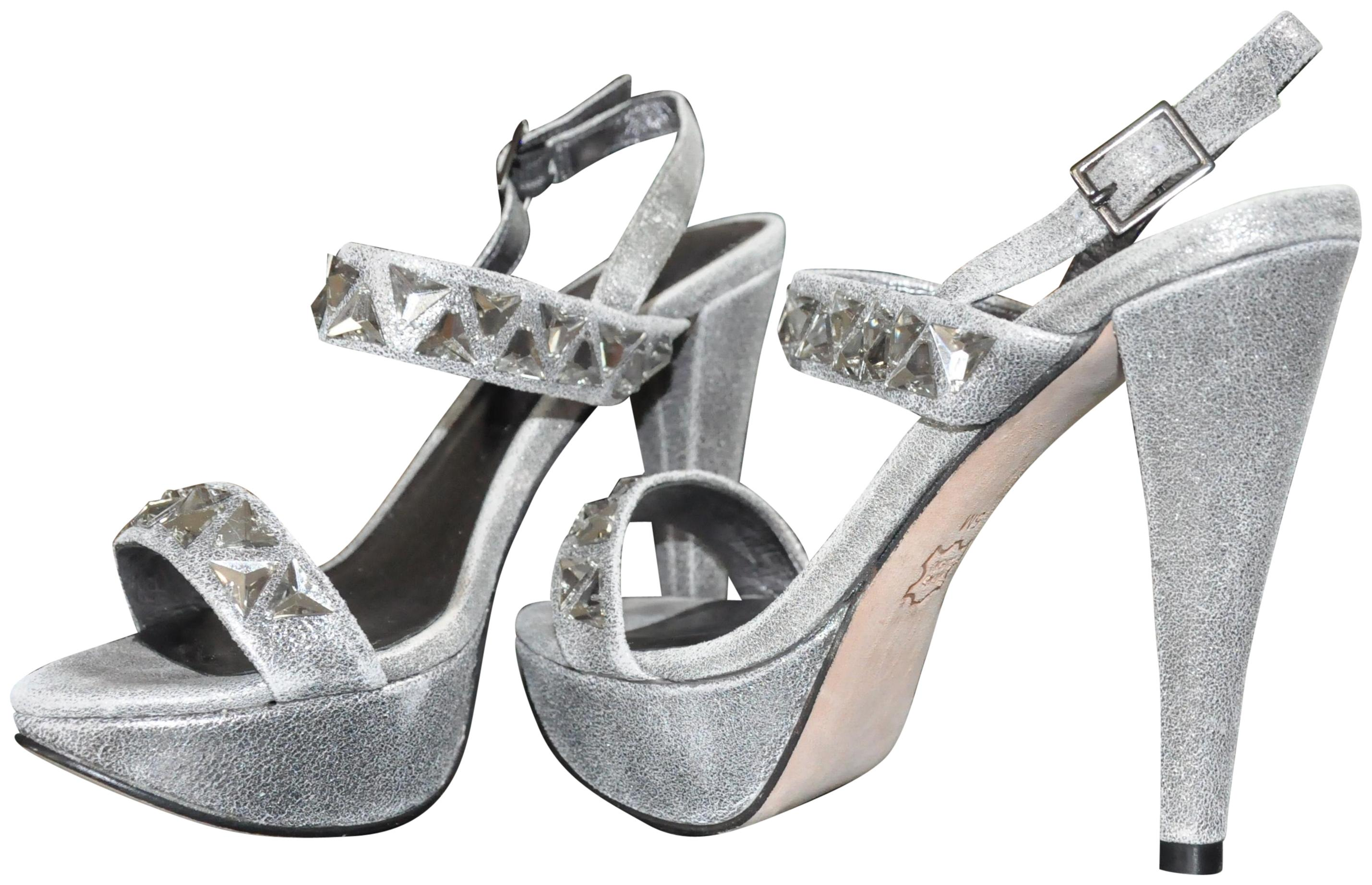 fab4858a0c2 Jessica Bennett Pewter Rocket Sandals Platforms Size US 5 5 5 ...