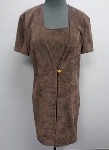 Jessica Howard short dress Brown Chocolate Polyester Blend W Faux Jacket Sm571 on Tradesy