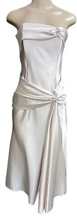 Jessica McClintock short dress Pinks Blush Strapless Long Waist Sash on Tradesy
