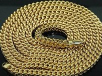 Jewelry For Less 10k 5mm Yellow White Gold Franco Chain Necklace 30 32 34 36 Inches