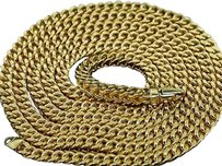 Other 10k 5mm Yellow White Gold Franco Chain Necklace 30 32 34 36 Inches