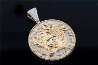 Jewelry For Less 10k Rose Gold Mens Diamond Mini Medusa Head Piece Greek Pendant Charm 0.50 Ct.