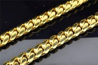 Jewelry For Less 10k Super Solid Heavy Yellow Gold Miami Cuban Link Chain Necklace