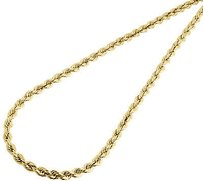 Jewelry For Less 10k Yellow Gold Mens Or Ladies Hollow Rope Chain Necklace Mm 16 - 30 Inches