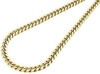 Jewelry For Less 10k Yellow Gold Super Solid Mm Mens Miami Cuban Chain Link Necklace Inch