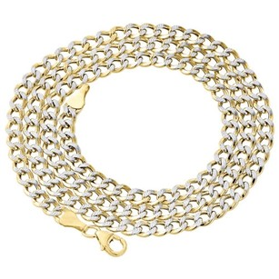 Other 110th 10k Yellow Gold Diamond Cut Curb Cuban Chain Necklace 4.25mm 20- Inch