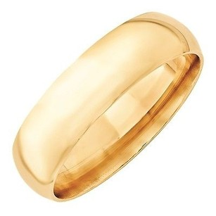 6mm 10k Yellow Gold Comfort Fit Or Half Round Wedding Ring Band 5-13