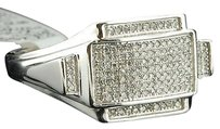 Diamond,Pinky,Ring,Mens,10k,White,Gold,Round,Cut,Fashion,Statement,Band,0.25,Ct.