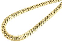 10k,Yellow,Gold,Semi,Hollow,9,Mm,Miami,Cuban,Link,Necklace,Chain,30,-,36,Inch