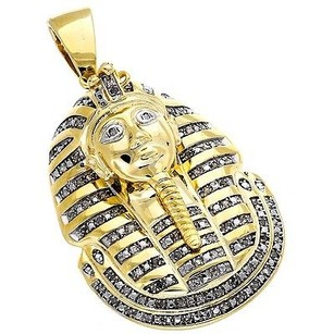 Other Diamond King Tut Tutankhamun Pendant .925 Sterling Silver Yellow Finish Charm