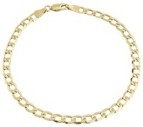 Other Mens Or Ladies 10k Yellow Gold Flat Cuban Curb 4.75 Mm Link Bracelet 8-10 Inches