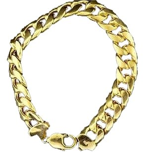 10k,Yellow,Gold,Miami,Cuban,Semi,Hollow,12.50mm,Wide,Link,9,Inch,Bracelet