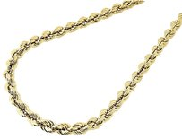 10k,Yellow,Gold,Mens,Or,Ladies,Hollow,Rope,Chain,Necklace,5,Mm,16,-,30,Inches