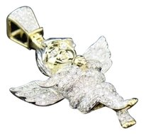 10k,Yellow,Gold,Mens,Ladies,Mini,Diamond,Jesus,Angel,Cherub,Pendant,Charm,3,Ct.