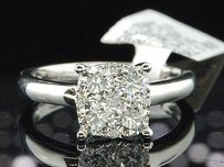 Diamond Engagement Ring 18k White Gold Round Cut 0.93 Ct - Larissa Collection