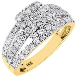 Diamond Wedding Ring Ladies 14k Yellow Gold Solitaire Round Engagement 1.15 Tcw