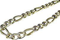Jewelry Unlimited 110th,10k,Yellow,Gold,Diamond,Cut,Figaro,Style,Chain,Necklace,6.5,Mm,18-24,Ins