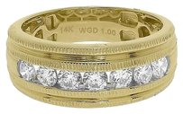 Jewelry Unlimited 14k,Yellow,Gold,Mens,Round,Channel,Diamond,Comfort,Fit,Wedding,Band,Ring,8mm,1ct