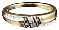 Jewelry Unlimited 10k,Yellow,Gold,Mens,Genuine,Round,Channel,Set,Diamond,Wedding,Band,Ring,5mm