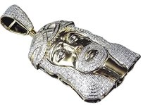 Jewelry Unlimited ,10k,Yellow,Gold,Genuine,Diamond,Micro,Pave,Jesus,Piece,Pendant,2.0ct,2.25