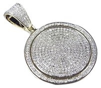Jewelry Unlimited ,10k,Yellow,Gold,Genuine,Diamond,Iced,Out,Mini,Disc,Pendant,0.95ct,1.25