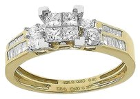 Jewelry Unlimited 10k,Gold,Ladies,Princess,Invisible,Diamond,Engagement,Bridal,Ring,Set,.90ct