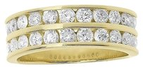Jewelry Unlimited 14k,Yellow,Gold,Mens,2,Row,Round,Diamond,8mm,Wedding,Fashion,Band,Ring,1.96,Ct