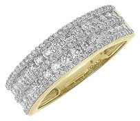 Jewelry Unlimited 14k,Yellow,Gold,Mens,Round,Pave,Channel,Diamond,7mm,Wedding,Band,Ring,1.26,Ct