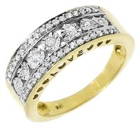 Jewelry Unlimited Yellow,Gold,Finish,Ladies,Round,Diamond,Heart,Fashion,Promise,Band,Ring,12,Ct