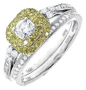Jewelry Unlimited 14k,White,Gold,Ladies,Round,Solitaire,Diamond,Bridal,Wedding,Ring,Set,0.80,Ct