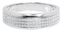 Jewelry Unlimited White,Gold,Finsih,Mens,7mm,Pave,Round,Diamond,Wedding,Fashion,Band,Ring,0.25,Ct