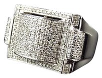 Jewelry Unlimited Men,10k,White,Gold,Round,Cut,Genuine,White,Diamond,3d,Style,Ring,25mm,1ct