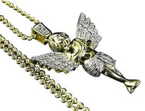Jewelry Unlimited Genuine,Diamond,3d,Flight,Of,An,Angel,Pendant,Charm,.50,Ctw,Finished,In,Yellow