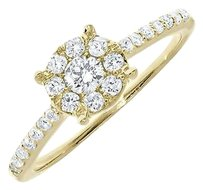 Jewelry Unlimited 14k,Yellow,Gold,Ladies,Round,Diamond,Flower,Engagement,Wedding,Ring,0.75,Ct