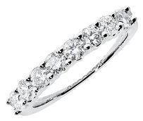 Jewelry Unlimited 14k,White,Gold,Ladies,Diamond,Shared,Prong,Wedding,Anniversary,Band,Ring,1,Ct