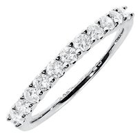 Jewelry Unlimited 14k,White,Gold,Ladies,Diamond,Shared,Prong,Wedding,Anniversary,Band,Ring,12,Ct