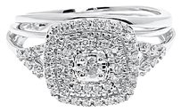 Jewelry Unlimited Ladies,10k,White,Gold,Xl,Round,Diamond,Prong,Engagement,Bridal,Ring,Set,0.35,Ct