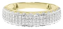 Jewelry Unlimited 10k,Yellow,Gold,Mens,Pave,Genuine,Diamond,6,Mm,Fashion,Wedding,Band,Ring,0.45,Ct